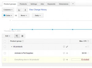 Adwords Exclude Everything else in All Products