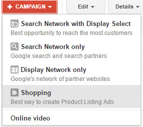 Create Adwords Shopping Campaign