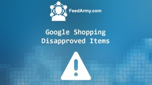 Google Shopping Disapproved Items