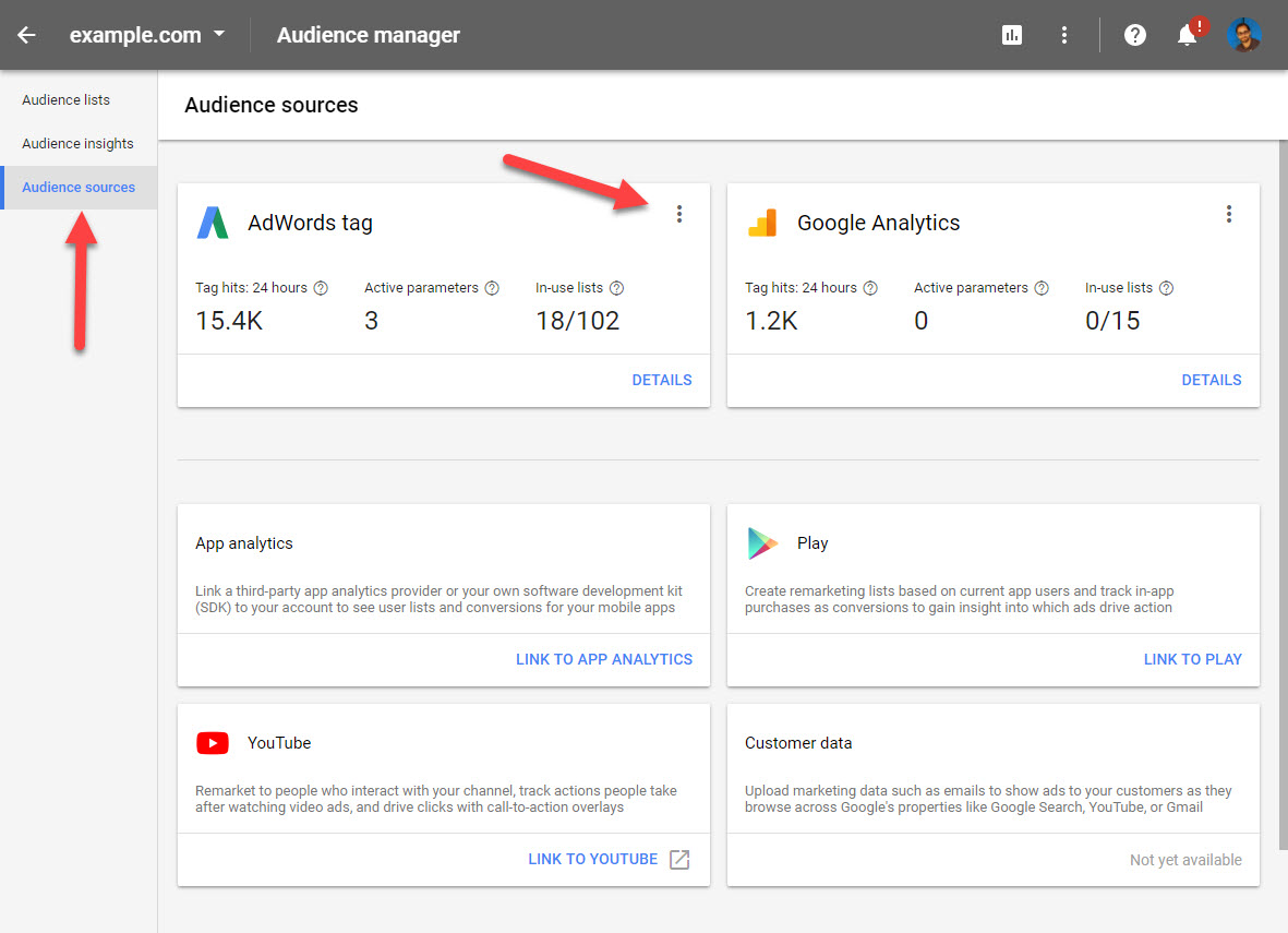 Google Ads Audience Sources