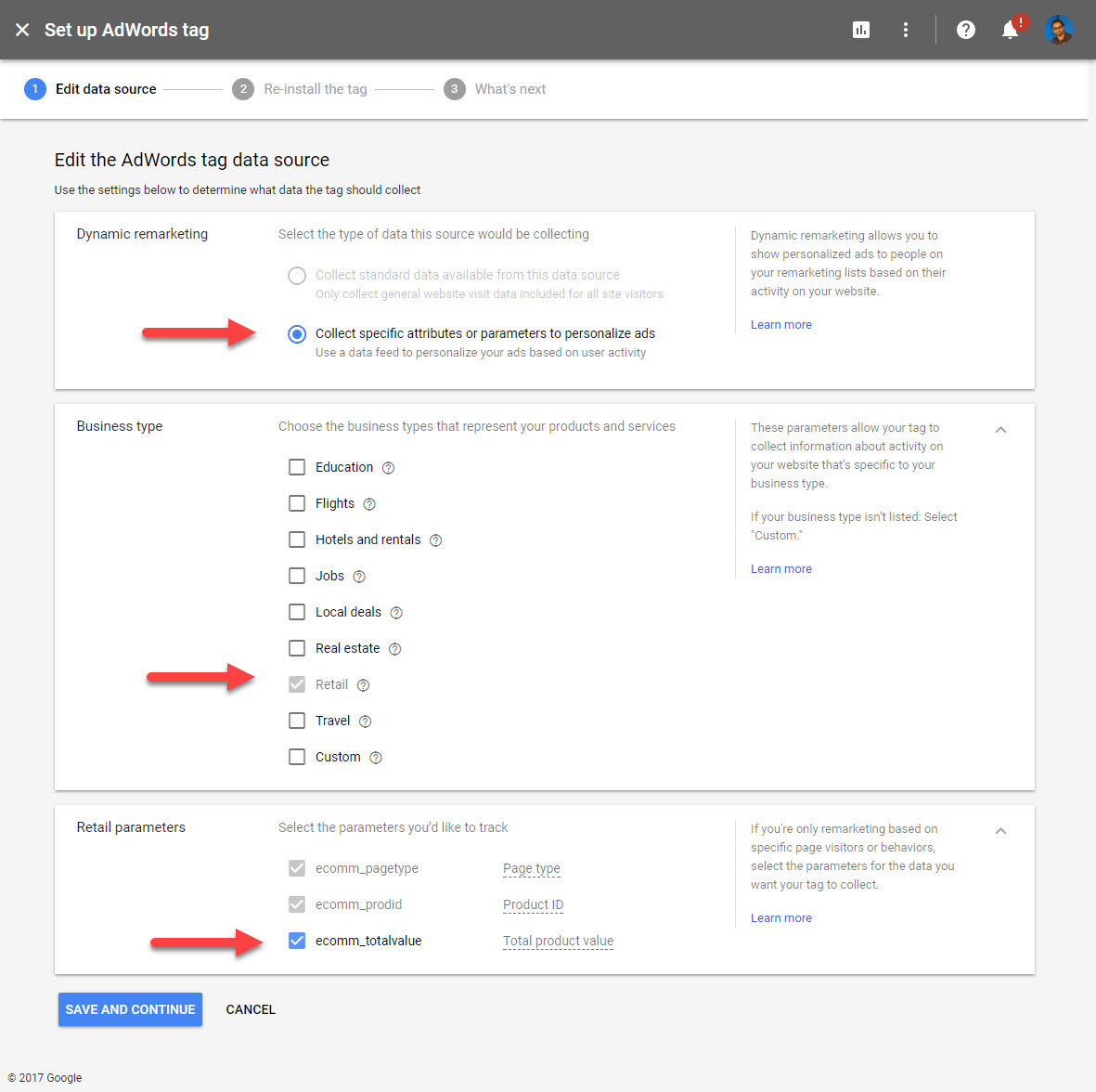 Google Adwords Tag Data Source