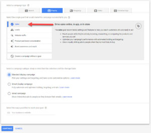 Google Ads Display Campaign Subtype