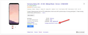 Google Shopping Compare Prices From