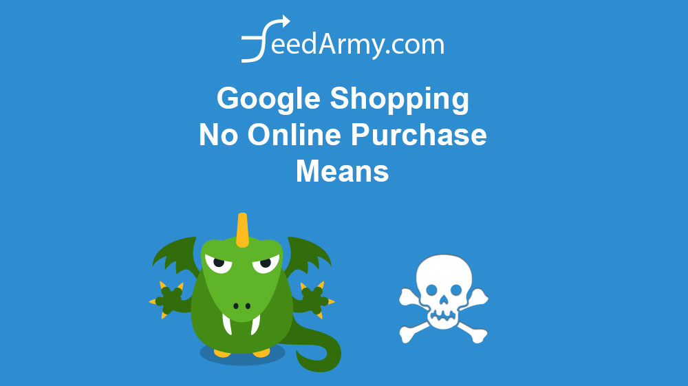 Google Shopping No Online Purchase Means
