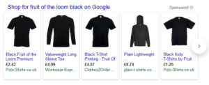 Google Shopping Carousel