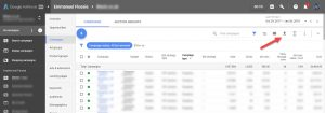 Google Adwords Download Table Contents New UI