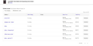 Google Shopping Affiliate Results
