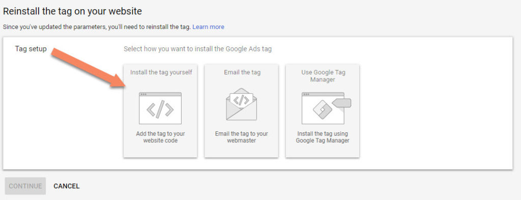 Google Ads Install Tag Yourself