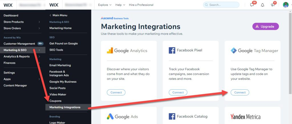 Integrate Tag Manager In Wix