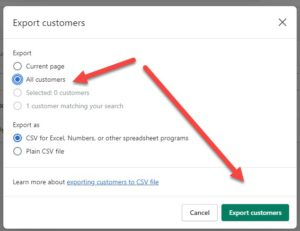 Export All Shopify Customers