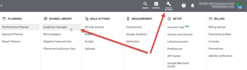 Google Ads Audience Manager
